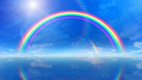 Door Opening Rainbow SD F2 In3 HD Stock Video Footage