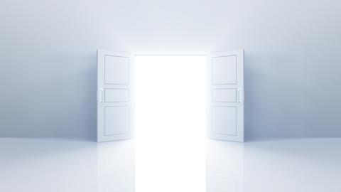 Door Opening sky2 DW F1 In HD Stock Video Footage