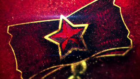 Red Star Close-up Shot Seamless Loop 4k (4096x2304) stock footage