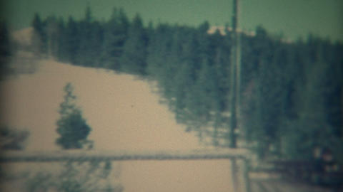 1967: Women visits traditional mountain ski winter resort Live Action