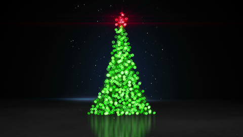 defocused christmas tree bokeh lights loopable animation 4k (4096x2304) CG動画素材