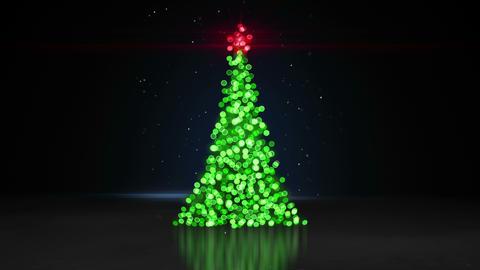 defocused christmas tree bokeh lights loopable animation 4k (4096x2304) Animation