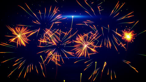 stylized fireworks seamless loop animation 4k (4096x2304) Animation
