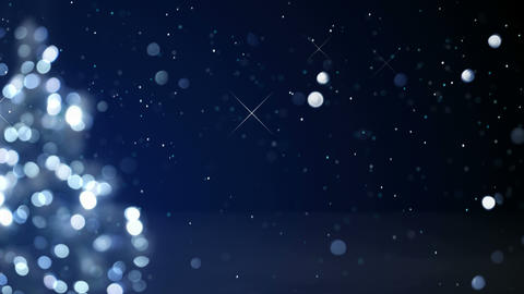 christmas tree blue decoration blurred lights loop 4k (4096x2304) Animation