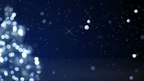 christmas tree blue decoration blurred lights loop 4k (4096x2304) Animation
