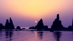 日の出と橋杭岩 Footage