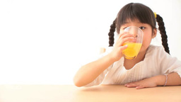 Girl drinking juice Footage