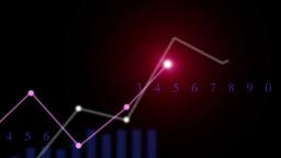 折れ線グラフが伸びる Footage