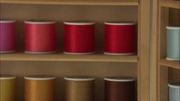 Colorful Yarn stock footage
