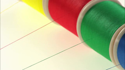 Colorful yarn Footage