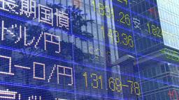 経済動向を表示する株価ボード stock footage