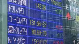 経済動向を表示する株価ボード Footage
