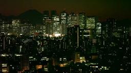 都市夜景 新宿方面 Footage