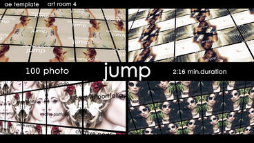 100 photo - Jump After Effectsテンプレート