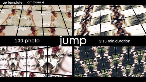 100 photo - Jump After Effects Template