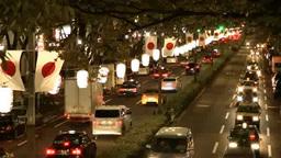 Traffic in Tokyo, Japan at night Footage