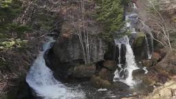 Ryuto Waterfall, Nikko, Tochigi Prefecture, Japan Footage