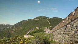 Mutianyu Great Wall in Beijing, China Filmmaterial