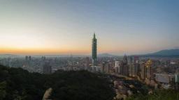 Time lapse Taipei City landscape Footage