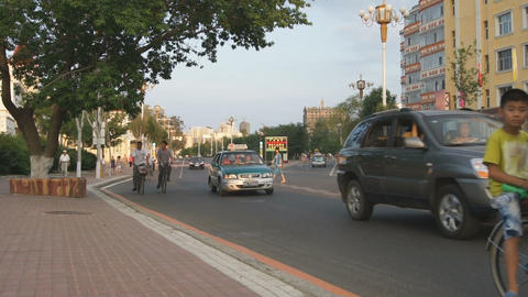Heihe Evening Street Traffic 02 Live Action