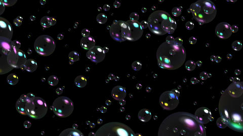 Bubbles particles 02 Stock Video Footage