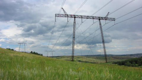 Power Lines. 12 Stock Video Footage
