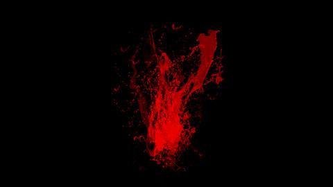 blood & plasma,splash red paint fluid,liquid & ink Stock Video Footage