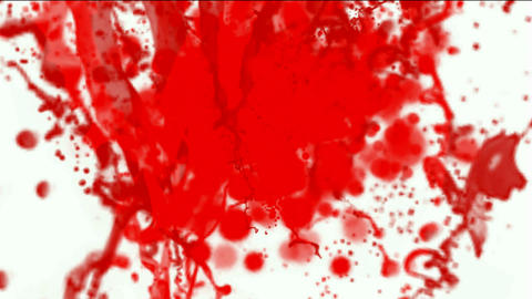 splash red paint fluid,liquid & ink,blood & plasma Stock Video Footage