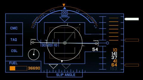 aviation radar GPS navigation screen display &... Stock Video Footage