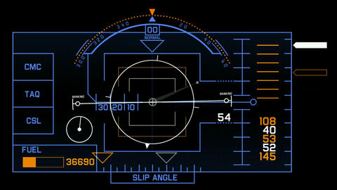 aviation radar GPS navigation screen display & number,computer game interfac Animation