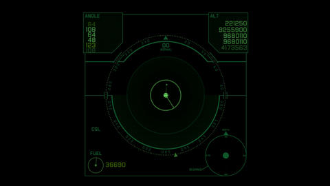 computer game interface,hi-tech software panel,aviation radar GPS navigation scr Animation