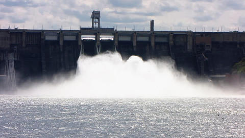 Spillway. 09 Stock Video Footage