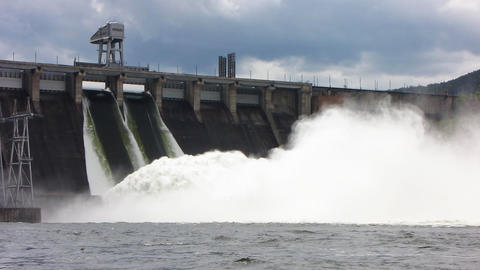 Spillway. 11 Stock Video Footage