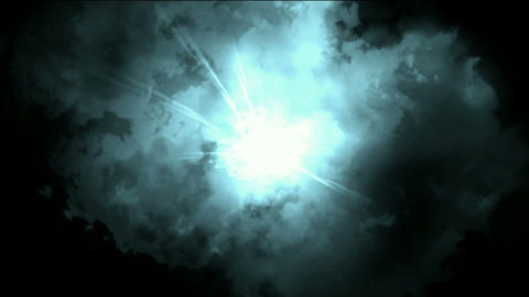 electronic energy field in universe space,storm clouds... Stock Video Footage