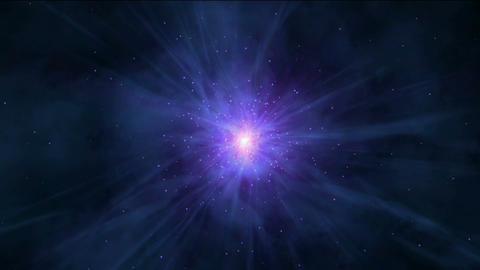 flying nebula & rays laser in universe,travel in space Stock Video Footage