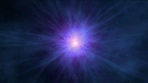 flying nebula & rays laser in universe,travel in space Animation