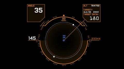 Radar GPS navigation screen display,tech computer... Stock Video Footage