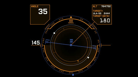 Radar GPS navigation screen display,tech computer software panel Animation