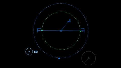 radar GPS navigation screen display,center of... Stock Video Footage