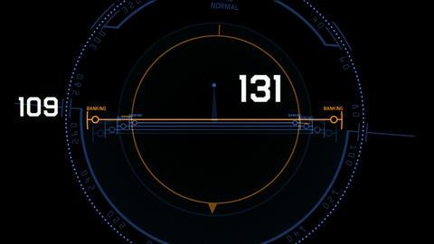 aviation radar GPS navigation screen display,futuristic... Stock Video Footage