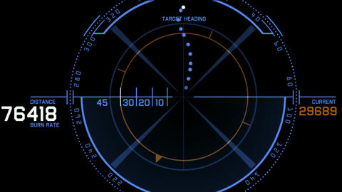 aviation radar GPS navigation screen display,bullet shot... Stock Video Footage