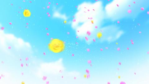 Flower shower フラワーシャワー ライスシャワー CG動画素材