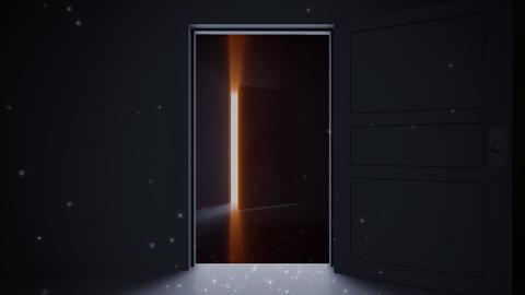 Door Opening loop SD F1 In2 HD Stock Video Footage