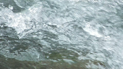 Water movement of the Okutama River,Slow Motion,Tokyo,Japan Footage