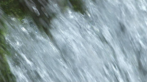 Water movement of theSmall Waterfall,in Okutama River,Slow Motion Footage