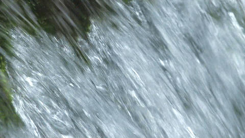 Water movement of theSmall Waterfall,in Okutama... Stock Video Footage