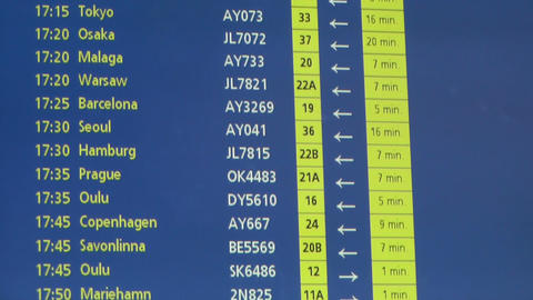 Airport Timetable Europe Footage