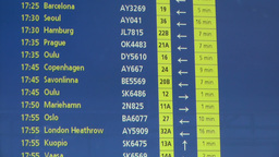 Airport Timetable Europe Stock Video Footage
