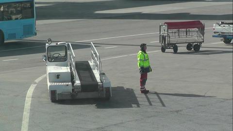 Airport Worker handheld Stock Video Footage