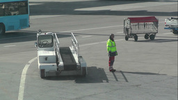 Airport Worker handheld Stock Video Footage